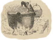 English: Crow making cheese. Illustration from