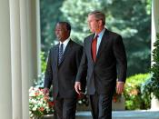 Thabo Mbeki with George W. Bush
