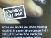 English: Smoking warning on a packet of cigarettes, Australia