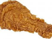 English: A piece of fried chicken from the fast food restaurant Popeyes.