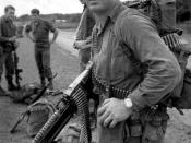 Sourced from: http://www.army.mil/cmh/books/Vietnam/allied/ch04.htm Caption: SOLDIER OF ROYAL AUSTRALIAN REGIMENT WITH M60