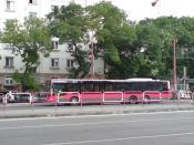 Trnavská, Bratislava. MAN NL313-15 Lion's City LL bus. Year built 2006. Albus Bratislava, s.r.o. company.