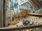 The Scottish Parliament Building in Holyrood
