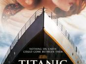 Star-crossed lovers. The poster was fashioned after Titanic ' s.