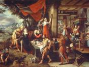 Deutsch: Das Gleichnis vom Verlorenen Sohn. Originalgröße: 214 x 128 cm