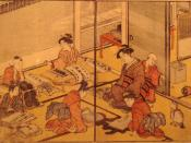 Teaching Reading And Writing, Izumiya Ichibei, 1790, Japan