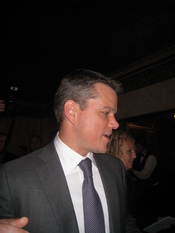 Matt Damon attending the premiere of his new movie The Informant!