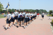 US Navy 110711-N-SZ577-001 Navy Junior ROTC cadets assigned to Grey Platoon, attending the two-week Navy Junior ROTC Area 4 Leadership Academy and
