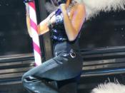 Victoria Beckham singing on pole