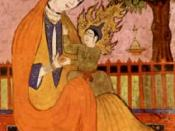 Virgin Mary and Jesus, old Persian miniature. In Islam, they are called Maryam and Isa. NOTE: See discussion page before using
