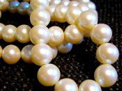 A white pearl necklace.