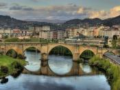 Bridge View of Roman origin of the city of Ourense, Spain. 2008 Ourense (Spain)
