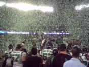 Saskatchewan Roughriders win the 2007 Grey Cup. Toronto, Canada.