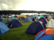 Tents at the camping site at the Lowlands festival, the Netherlands.