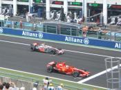 Felipe Massa et LEwis Hamilton en première ligne