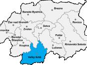 Veľký Krtíš District in the Banská Bystrica region