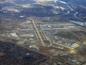 English: Minneapolis-St. Paul International Airport from the air in November