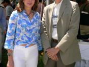 Queen Noor of Jordan with Steve Jurvetson after the 2006 FIFA World Cup match between Argentina and Germany.