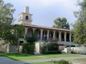 English: Photographed and uploaded by user:Geographer. Johnston Student Center and Freeman College Union built in 1928 is a center for the social life of the campus, Occidental College, on July 15, 2005.
