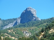 English: View of Moro Rock from Potwisha (near Hospital Rock), Sequoia National Park, California