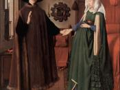 Untitled, known in English as The Arnolfini Portrait, The Arnolfini Wedding, The Arnolfini Marriage, The Arnolfini Double Portrait, or Portrait of Giovanni Arnolfini and his Wife.