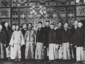 Early officers of San Francisco's Six Companies in traditional dress, with riding jackets over changshan.