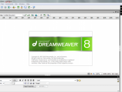 Dreamweaver 8, the last version marketed by Macromedia.