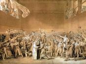 The National Assembly taking the Tennis Court Oath (sketch by Jacques-Louis David).