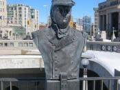 Isaac Brock bust, Valiants Memorial, Ottawa