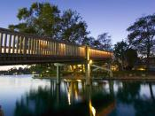 Bridge across North Lake, Woodbridge, Irvine, California