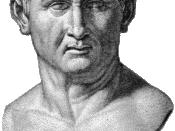 Cicero, Kopiezeichnung einer Büste aus London (Herzog Wellington)