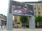 English: Public Television Screen, Festival Square