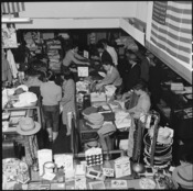 San Francisco, California. Customers buy merchandise in a store operated by a proprietor of Japanes . . . - NARA - 536042