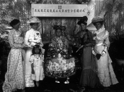 Empress Dowager Cixi with foreign ladies