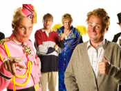 Al Murray as (left to right) Roger Dennis, Horst Schwul, Wayne Upman, Gary Parsley, Peter Taylor and Barrington Blowtorch