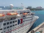 English: The cruise ship Celebration when it was part of Carnival Cruise Lines docked in Nassau, Bahamas