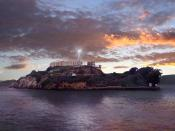 English: The lighthouse on Alcatraz Island, San Francisco Bay, California.