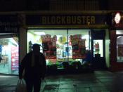 English: A Blockbuster Video rental shop in the town of Peterlee, County Durham, England. This particular branch is located on Yoden Way in the town's shopping centre. Photographed on December 21, 2006 by user skl1983