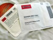 English: A Netflix envelope picture taken by BlueMint.