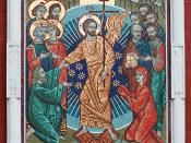 English: Icon showing the Resurrection of Jesus, at the inner side of the Resurrection Gate to the Red Square, Moscow