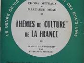 Couverture du livre de Margaret Mead et Rhoda Metraux, Themes de culture de la france