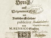 Estonian Grammar by Heinrich Stahl, published 1637 in Reval (Tallinn)