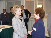 Hillary with Edna Mitchell