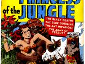Cover scan of a jungle girl comic book.