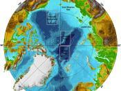 English: Arctic Ocean, submarine features Français : Bathymétrie de l'océan arctique