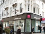 A branch of the Northern Rock Bank on Northumberland Street / Ridley Place, Newcastle upon Tyne, England in October 2007.