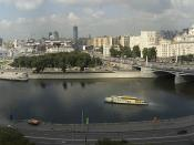 Panorama of Moscow, Borodinsky Bridge near right, Smolensky Metro Bridge far right