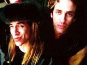 Slovak (right) with Red Hot Chili Peppers bandmates Anthony Kiedis (middle) and Flea (top left) in 1987.