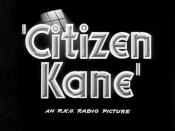 Screenshot from the Citizen Kane trailer