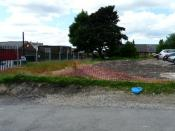 English: Site of Scout Hut Site of the former 3rd Gee Cross Scout Hut off Hill Street. It was severely damaged by storms in 2007. Money has been raised and it is hoped to build a new one on the site.